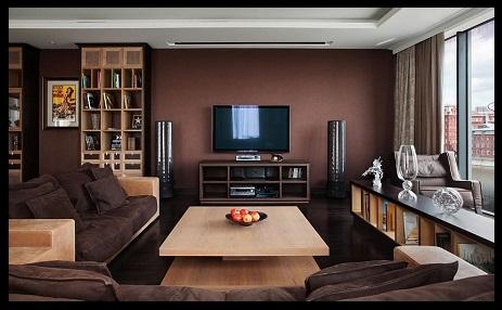Decoraci n de salas peque as y modernas imagenes de for Decoracion de salas pequenas color chocolate
