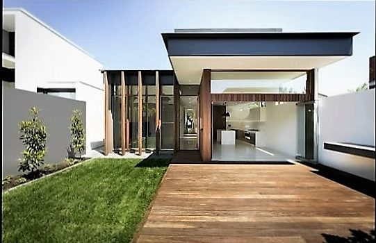 Fotos de fachadas bonitas y sencillas de un solo piso for Fachadas de casas modernas para colorear
