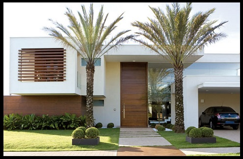 Fachadas de casas con jardin bonitas y grandes imagenes for Fotos de jardines de casas modernas