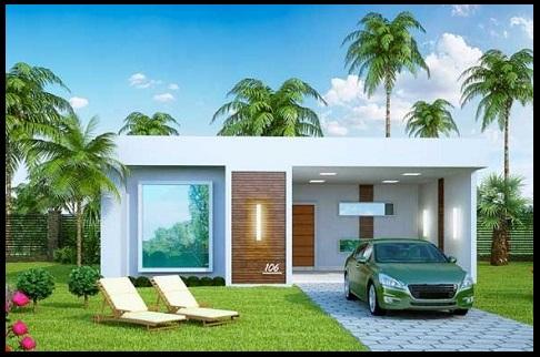 Fachadas de casas con jardin de un piso imagenes de for Fachadas de jardines para casas