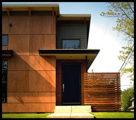 Fachadas de casas de madera modernas y bonitas imagenes for Modelos de fachadas para casas de 2 pisos