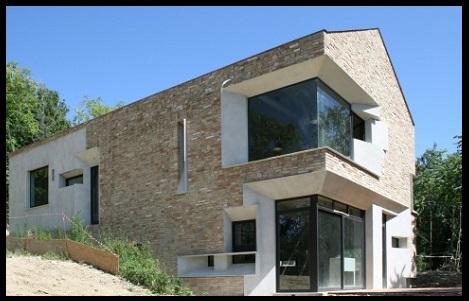 fachadas de casas modernas con piedra laja imagenes de On casas modernas con piedras