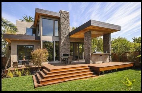 Fachadas de casas modernas con piedra laja imagenes de for Fachadas de casas modernas con piedra