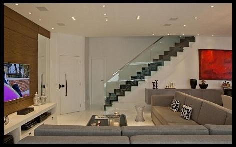 Fotos de salas de casas modenas imagenes de casas del futuro for Imagenes escaleras modernas