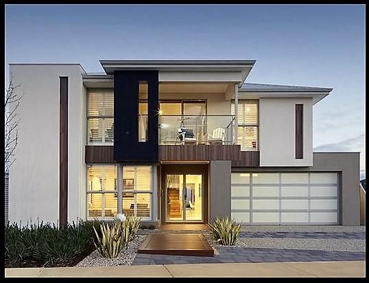 Fotos de casas modernas de dos pisos bell simas casas Fachadas para casas de dos plantas
