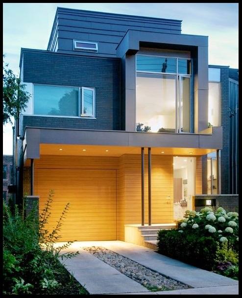 Fotos de casas modernas de dos pisos bell simas casas for Frentes de casas de una planta