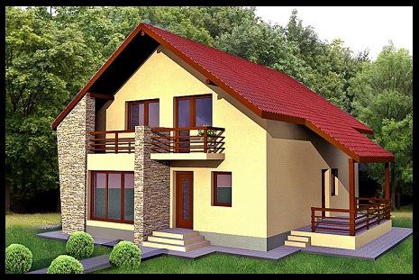 Modelo de fachadas de casas sencillas imagenes de casas for Decoracion de frentes de casas