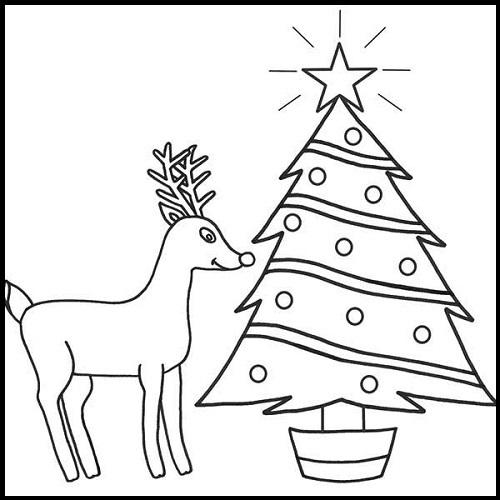 Arboles de navidad para colorear e imprimir imagenes de for Dibujo arbol navidad