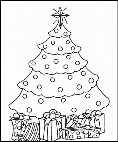 Imagenes De Arboles De Navidad Para Dibujar y Colorear | Imagenes De ...