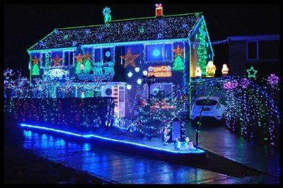 fotos de casas decoradas de navidad