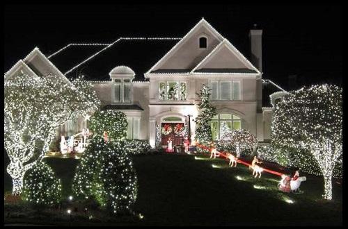 Casas decoradas de navidad por fuera imagenes de casas - Casas decoradas en navidad ...