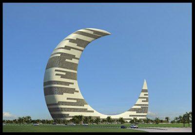 edificio-en-forma-de-media-luna-en-dubai