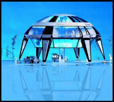 bonitas maquetas de casas del futuro
