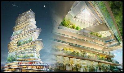 fotos de maquetas de ciudades del futuro