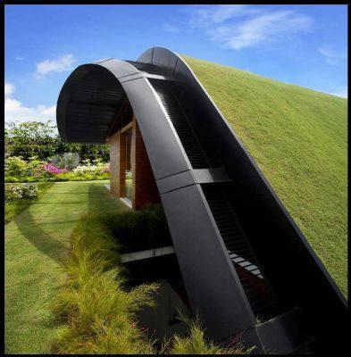 Hermosas Casas Del Futuro Con Plantaciones