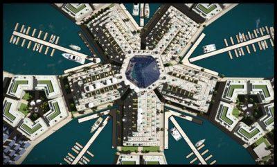 La Primera Ciudad Flotante En El Mar Del Pacifico