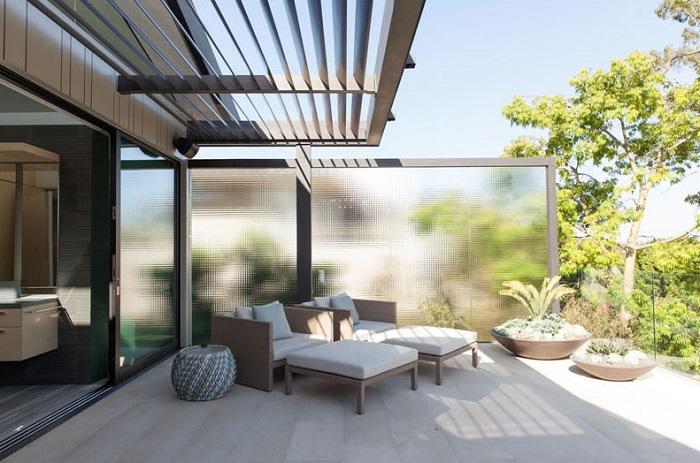 Pequeña terraza por fuera