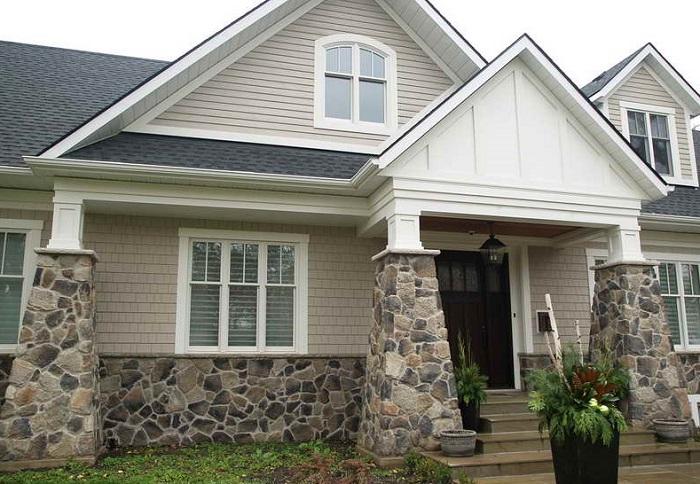 Fachadas de casas con piedra decorativa imagenes de for Decoracion de casas con piedras
