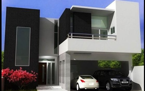 Fotos de fachadas de casas de dos plantas imagenes de for Diseno de casas modernas de 2 plantas