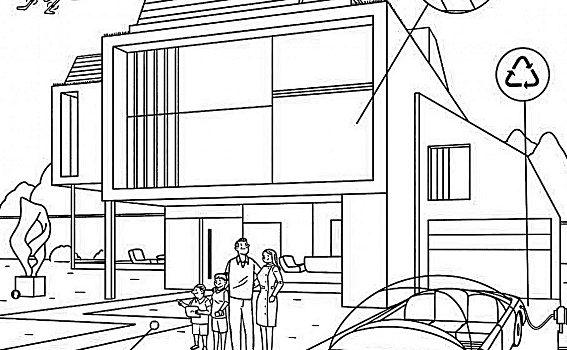 Casas del futuro para dibujar imagenes de casas del futuro for Fachadas de casas modernas para colorear